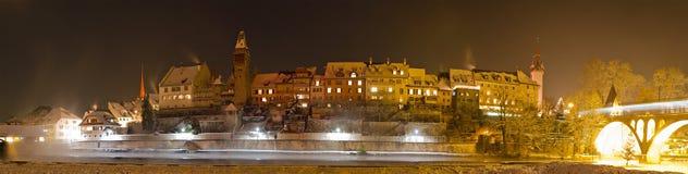 Ville historique Bremgarten en hiver photos libres de droits