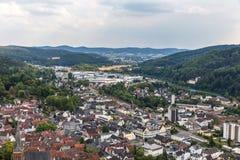 Ville historique de Biedenkopf Hesse Allemagne d'en haut Photos stock