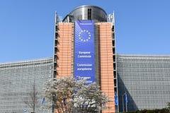 Ville historique de Bruxelles et ville parlementaire européenne photographie stock