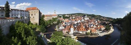 Ville historique de ?eský Krumlov. Image stock