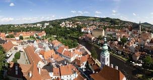 Ville historique de ?eský Krumlov. Images libres de droits