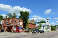 Ville historique de Johnson, Vermont Image libre de droits