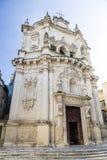 Ville historique de Lecce Italie Photos libres de droits