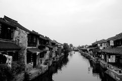 Ville historique de Xitang de porcelaine Image libre de droits