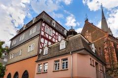 Ville historique Hesse Allemagne de Biedenkopf Photographie stock libre de droits
