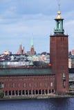 Ville hôtel de Stockholm Photos stock