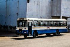 Ville Hyderabad de film de Ramoji à l'intérieur d'autobus de vue photographie stock libre de droits