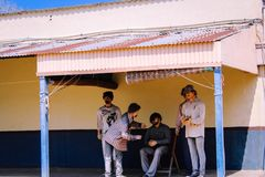 Ville Hyderabad de film de Ramoji à l'intérieur des poupées factices de vue photo libre de droits