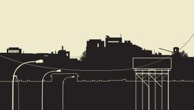 Ville industrielle Photo stock