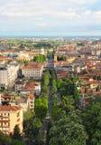 Ville inférieure de Bergame, Italie image libre de droits
