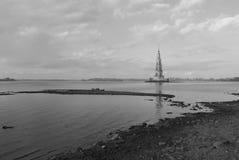 Ville inondée - lac artificiel en Russie Images libres de droits
