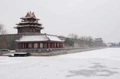 Ville interdite après neige Photo stock