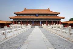 Ville interdite célèbre à Pékin, Chine Photographie stock