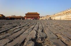 Ville interdite. Pékin. La Chine Images libres de droits