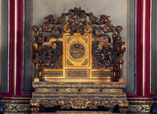 Ville interdite par trône Pékin Chine d'empereurs Photo libre de droits