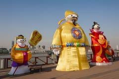 Ville 2016 internationale de carnaval de lanterne magique de Changhaï de lumière Image stock