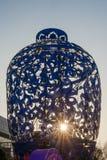 Ville 2016 internationale de carnaval de lanterne magique de Changhaï de lumière Image libre de droits