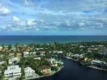 Ville Intracoastal d'océan Images libres de droits