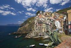 Ville italienne sur le littoral image libre de droits