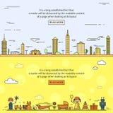 Ville, jouets du ` s d'enfants Images libres de droits