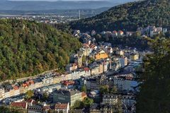 Ville Karlovy Vary image stock