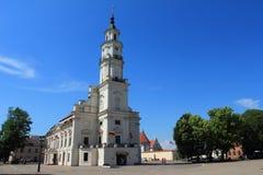 Ville Kowno, Lithuanie, hôtel de ville de Kaunas photos libres de droits