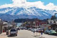 VILLE LA NOUVELLE ZÉLANDE DE WANAKA 5 SEPTEMBRE : le wanaka est un ski populaire a Images stock