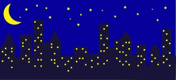 Ville la nuit Photos stock