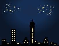Ville la nuit Image libre de droits