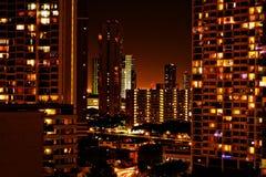 Ville la nuit Photo libre de droits