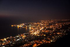 Ville la nuit Photographie stock libre de droits