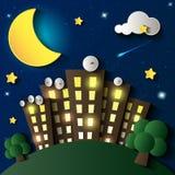 Ville la nuit illustration libre de droits