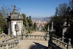 Ville Lamego de vue d'escalier, Portugal. Photos libres de droits