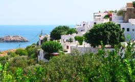Ville Lindos du grec ancien Image libre de droits