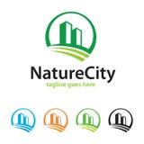 Ville Logo Template Design Vector de nature Image libre de droits