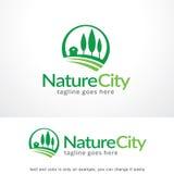 Ville Logo Template Design Vector, emblème, concept de construction, symbole créatif, icône de nature Photos stock
