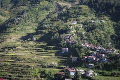 Ville luzon Philippines de montagne de Banaue Image libre de droits