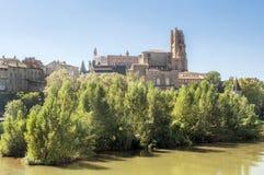 Ville médiévale d'Albi dans les Frances Image stock