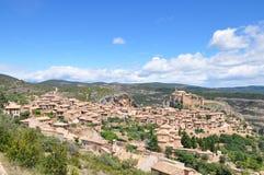Ville médiévale d'Alquezar en Espagne Photographie stock libre de droits