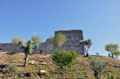 Ville médiévale de château d'Orem, Portugal Photographie stock libre de droits