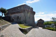 Ville médiévale de château d'Orem, Portugal Photographie stock
