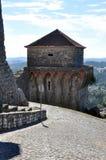 Ville médiévale de château d'Orem, Portugal Photos libres de droits