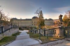 Ville médiévale de jour ensoleillé d'hiver de l'Allemagne de la Bavière de résidence de rzburg de ¼ de WÃ en février photographie stock libre de droits