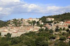 Ville médiévale de Sartene, Corse du sud, France Photos stock