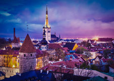 Ville médiévale de Tallinn vieille, Estonie Photo stock
