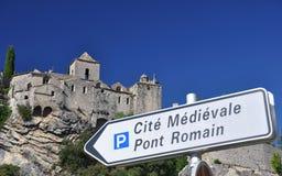Ville médiévale de Vaison-La-laitue romaine Photographie stock