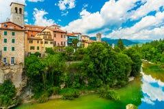 Ville médiévale italienne Cividale del Friuli, Italie photographie stock
