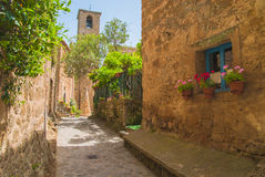 Ville médiévale italienne de Civita di Bagnoregio, Italie Photo libre de droits