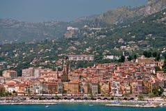 Ville médiévale Menton en Côte d'Azur Images stock
