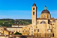 Ville médiévale Urbino en Italie image libre de droits